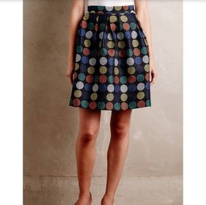 Anthropologie | Hutch Dotset Mini Skirt